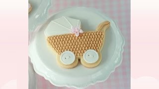 How to Pipe Basket Weave & Baby Carriage Cookie Tutorial