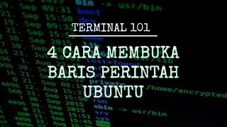 4 Cara Membuka Baris Perintah di Ubuntu Linux