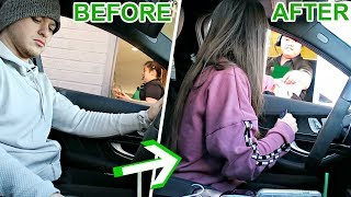 DRIVE THRU PERSON SWAP PRANK! **THEY TRIPPED OUT**