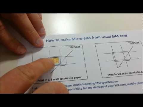 Jak przerobić kartęSIM na micro SIM
