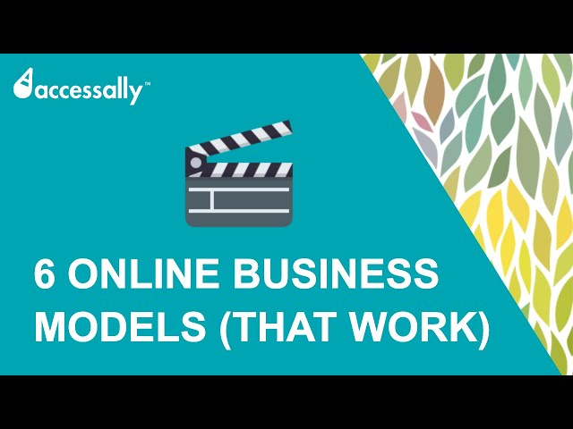 6 Online Business Models