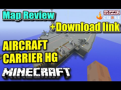 MINECRAFT - PS3 - AIRCRAFT CARRIER HUNGER GAMES MAP REVIEW + DOWNLOAD LINK ( PS4 ) TU19 SERVER