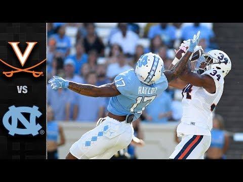 Virginia vs North Carolina Football Highlights 2017
