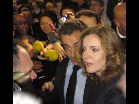 Arrivée de Nicolas SARKOZY au meeting NKM, Paris le 10 fév. 2014