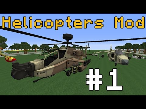 Minecraft Epic Helicopter and Plane Mod! #1