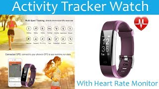 Activity Tracker Watch with Heart Rate Monitor, Waterproof Smart Fitnes,Watch for Kids Women and Men