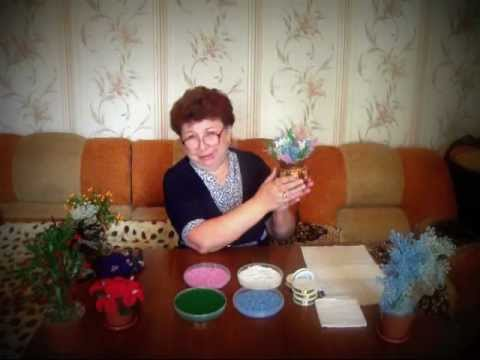Смотреть онлайн видео Бисероплетение для начинающих (Вереск) Мастер-класс.