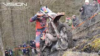 Valleys Extreme Enduro Jonny Walker And Paul Bolton work together to clear the big hill