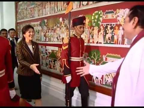 Thiland Prime Minister Yingluck Shinawatra's official visit to Sri Lanka