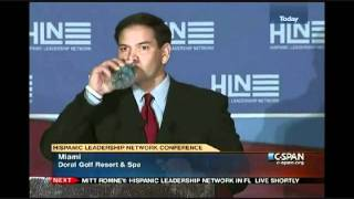 Sen. Marco Rubio Interrupted by Hecklers; Asks them to Stay and Hear what He has to Say