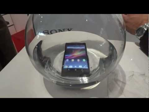 Sony Xperia Z under water.
