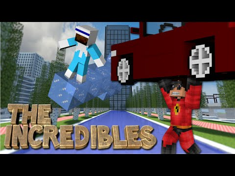 Minecraft: The INCREDIBLES MOD! (Control Ice, Elastic Powers, Super Strength)