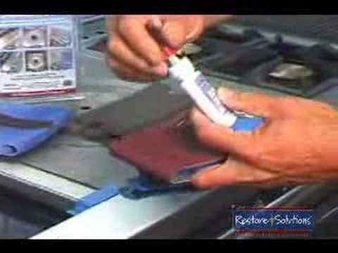 Stainless steel scratch b gone training youtube How to take scratches out of stainless steel appliances