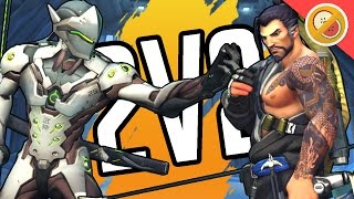 2V2 AGAINST FANS!   Overwatch Gameplay