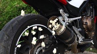 Honda CB500F - Exhaust Popcorn