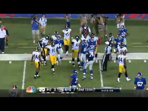 Giants Vs Steelers Preseason 2014 Highlights video