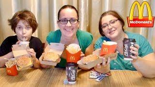 McDonald's 1/4 Pounder Meal | Gay Family Mukbang (먹방) - Eating Show