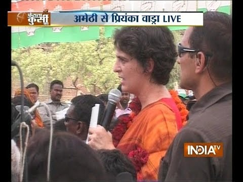 LIVE: Priyanka Gandhi addresses people in Amethi