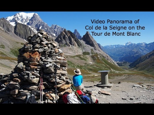 Panorama of Col de la Seigne, on the Tour de Mont Blanc