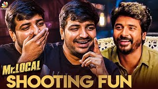 Full Fun with Sivakarthikeyan at Mr. LOCAL Sets : Sathish Reveals | Atharvaa Interview | Boomerang