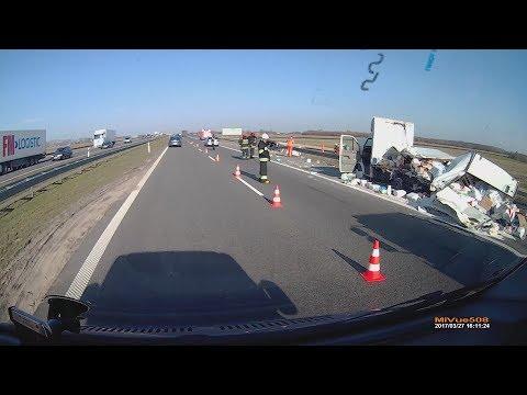 Wypadek Na Autostradzie A2 Film Przed I Po Zdarzeniu