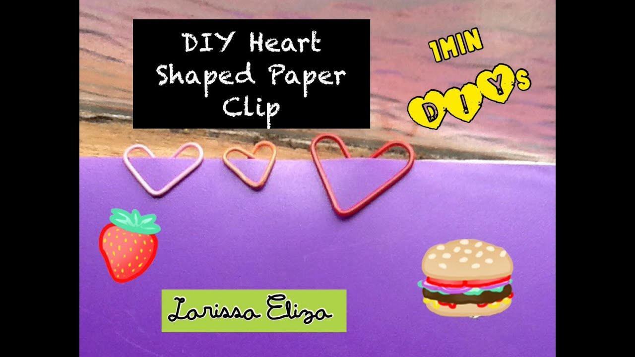 heart shaped paper clips