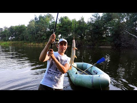 Вот это рыбалка!Поймал щуку,окуня.Ловля на лодке.Жарю стейки и щуку.