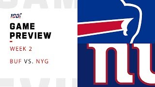 Buffalo Bills vs. New York Giants Week 2 NFL Game Preview