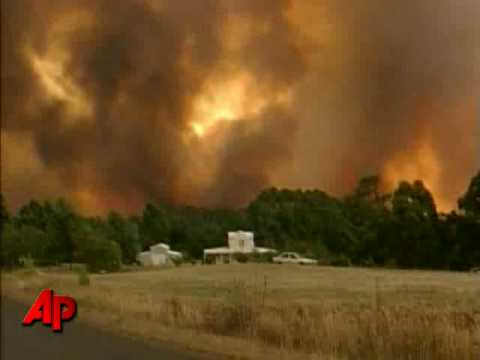 Raw Video: Wildfires Ravage Australia