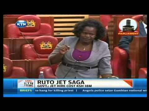 Details of Ruto's trip tabled in parliament