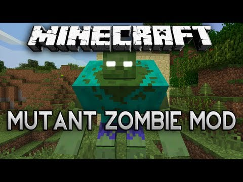 Minecraft: MUTANT ZOMBIE MOD! - Boss of Undead Minions and Raw Chicken