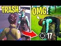 I Pretended to Be a DEFAULT In Random Duos then CARRIED... (Fortnite Chapter 2)