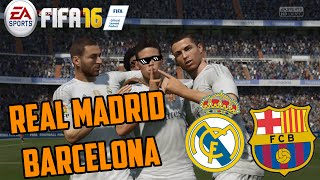 TURN DOWN FOR JAMES | Real Madrid - Barcelona | FIFA 16 DEMO | Dieguiinn