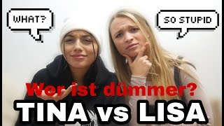 DUELL: Wer ist DÜMMER?🤔 TINA vs LISA - ft. Ceddo / Couch Question
