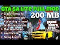 download mp3 dan video Gta sa lite 200 mb full mod | Support nougat & oreo | Gta san andreas | game android offline #49