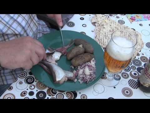 The traditional Swedish way to eating surströmming