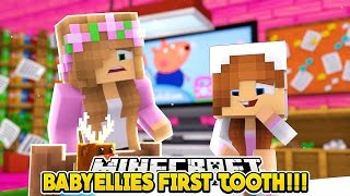BABY ELLIES FIRST TOOTH!!! - Minecraft Little Club Adventures