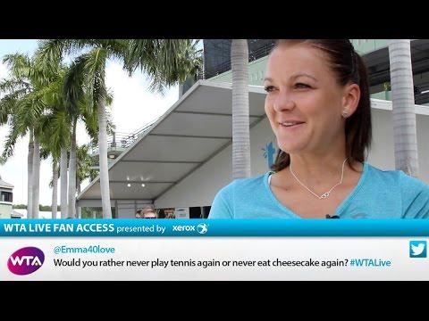 Agnieszka Radwanska   WTA Live Fan Access presented by Xerox   2015 Miami Open