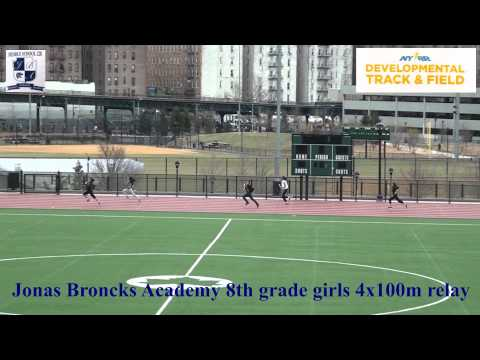 "Jonas Bronck Academy MS228 Track and Field 4x100m relay Girls ""A"""
