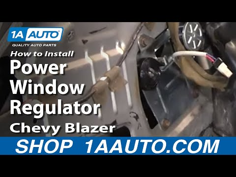 How To Install Replace Power Window Regulator Chevy S10 Blazer GMC S15 Jimmy 4Dr
