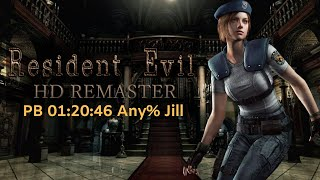 Resident Evil HD Remaster - speedrun any% jill PB 01:20:46 PC