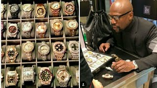 """Floyd Mayweather Watch Collection Over 30 million Dollars Spent """"song (OMG by C.clark)"""