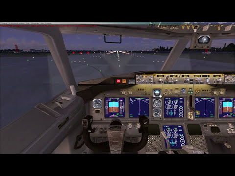 Microsoft Flight Simulator X обучение взлет