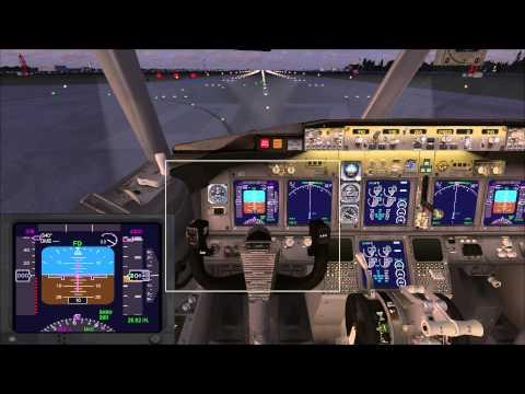 Microsoft Flight Simulator X обучение взлет