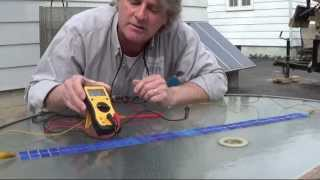 solartekTV ~Howto make Semi-Flexible SOLAR PANEL DiY part 6 of 13~ DC voltage output