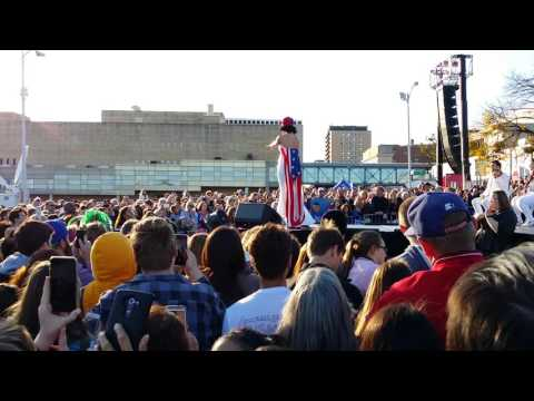 Katy Perry at the Hillary Clinton rally in Iowa