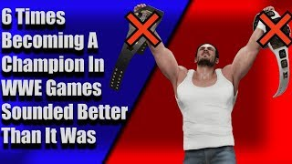 6 Times Becoming A Champion In WWE Games Sounded Better Than It Was