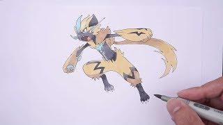 Let'S Draw Pokemon No. 807: Zeraora ゼラオラ