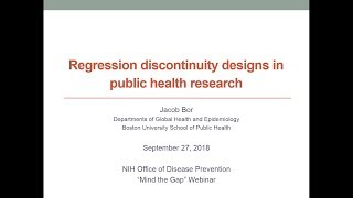 Regression Discontinuity Designs in Public Health Research