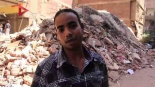 """أحد سكان عقار""""عرب المعادي"""" المنهار:  """"البيت بيوقع من 3 أيام.. والحي متخاذل"""""""